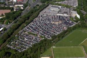 1100 Autos fasst das Autokino in Essen. (Foto: DWI-GmbH)