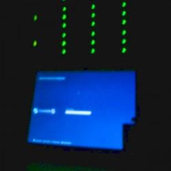 Jedes grüne Licht ist eine Festplatte