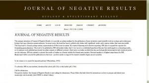 Das Journal of Negative Results ist eines der  neuen Medien für Forschung mit negativem oder nicht eindeutigem Ergebnis