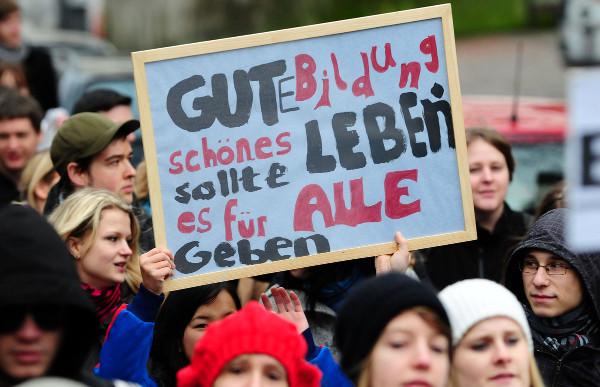 In ganz Deutschland wurde im Sommer für mehr Gerechtigkeit an den Unis gestreikt. Foto: Florian Hückelheim