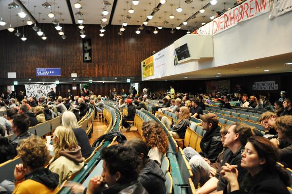 Seit Dienstag war der Audimax von den Studenten besetzt.