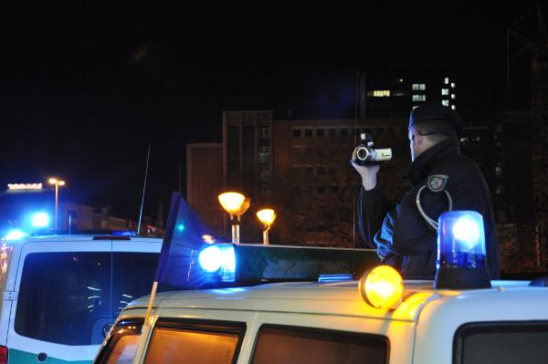 Die Studenten im Fokus der Polizei.