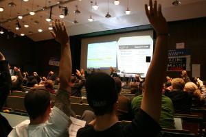 Die Forderungen wurden abgestimmt - basisdemokratisch