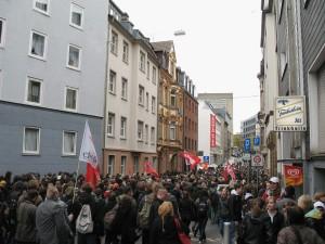 In Essen hatte sich der größte Demonstrationszug zusammengefunden. Foto: Phillip Anft
