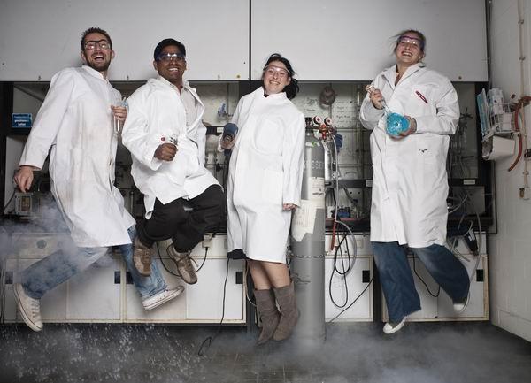 Die Chemiker hatten ebenfalls ihren Spaß.