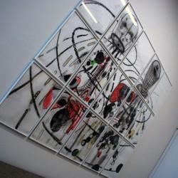 Werk aus der Ausstellung zeitgenössischer Zeichnungen.