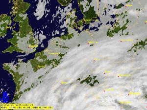 """So zeigt sich Sturmtief """"Daisy"""" auf dem Satellitenbild. Foto: DWD"""