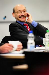 Der SPD-Landtagsabgeordnete Bovermann hatte sichtlich Spaß an der Debatte.