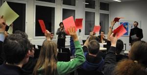 Abstimmung im Publikum: Zwei Drittel sind gegen das HFG