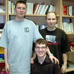Die aktuellen Referenten: (von links) Frederick, Jan und Dino; Foto: Marc Patzwald