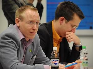 Markus Krümpel und Henning Blunck während der Debatte.