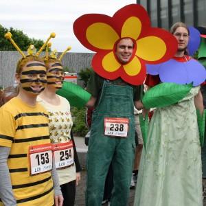Bienchen und Blümchen beim 2,5km-Lauf