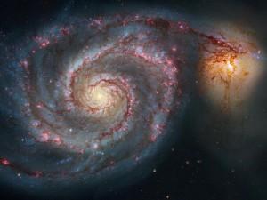 Die Rotations-Eigenschaften von Galaxien werden mit Dunkler Materie erklärt. Foto: © NASA