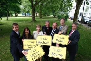 Die Vertreter der Finalistenstädte von InnovationCity Ruhr. Foto: InnovationCity Ruhr