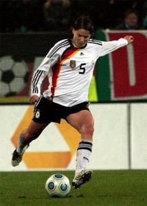 Annike Krahn im Einsatz für die Nationalmannschaft; Foto: Daniela Klöppel
