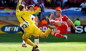 Gegen Serbien musste sich Manuel Neuer einmal geschlagen geben. Foto: dfb.de