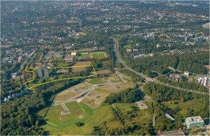Der Gesundheitscampus aus der Luft. Quelle: Stadt Bochum