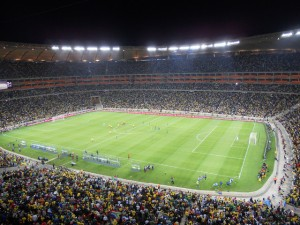 Soccer City, das Finalstadion in Johannesburg: Noch 16 Mannschaften können hin, zwei werden es schaffen. Foto: flickr.com/ User Shine 2010