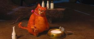 Erinnert an Garfield: Der Gestiefelte Kater. Bild: Paramount Pictures