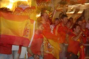 Nach dem Sieg: Spanien feiert. Foto:Melanie Meyer