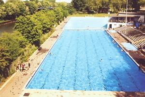 Das Schwimmerbecken. Foto: Sport- und Bäderbetriebe Essen.