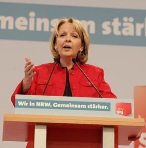 Hannelore Kraft hat es geschafft: sie ist die erste Ministerpräsidentin in NRW    Foto: www.flickr.com Benutzer: nrwspd