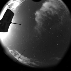 Etwa einhundert solcher Sternschnuppen lassen sich bei gutem Wetter am Himmel beobachten. © Deutsches Zentrum für Luft- und Raumfahrt (DLR)