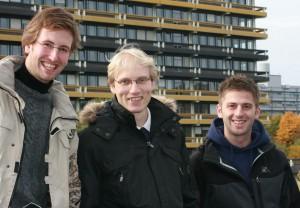 Börries, Benjamin und Günther zur pflichtlektüre; Foto: Melanie Meyer