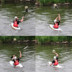 Gekonnt ist gekonnt: Jakob nimmt den Ball mit dem Paddel an und befördert ihn von da in seine Hand. Fotos: Sebastian Schaal