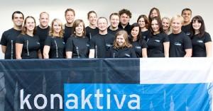 Zufrieden: Das Team der Konaktiva. Foto: Konaktiva