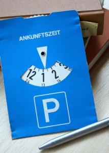 Parkscheiben in Uni-Bibliotheken; Foto: Anna Hückelheim