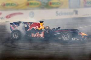 """Sebastian Vettel hat mit seiner """"Randy Mandy"""" am Wochenende ordentlich Gas gegeben. Foto: Race of Champions"""
