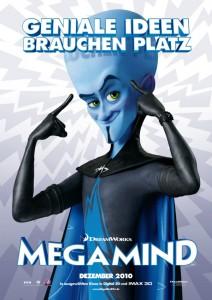 Megamind verlässt sich ein bisschen zu oft auf seinen Kopf. Foto: Dreamworks