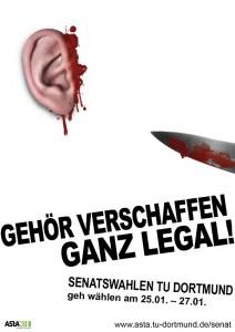 Mit diesem Plakat wirbt der AStA für die Gremienwahlen. Zunächst sollen 50 bis 100 Stück gedruckt und aufgehängt werden. Quelle: AStA TU Dortmund