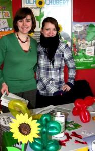 Laura Schlegel und Marion Epping von der Grünen Hochschulgruppe, Foto: Laura Millmann