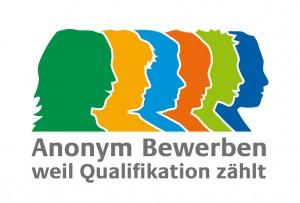 """Das Logo der Antidiskriminierungsstelle zum Pilotprojekt """"Anonyme Bewerbung"""". Quelle: www.antidiskriminierungsstelle.de"""