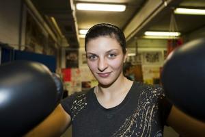 """""""Ich denke immer, dass ich gewinne"""", sagt Christina einen Monat vor dem Titelkampf. Foto: Matthis Dierkes"""