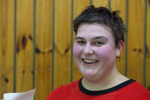 """Jasmin (22) wird nach dem Probetraining weiter bei den """"Bochum Miners"""" spielen. Foto: Fabian Karl."""
