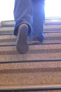 Mach dich auf den Weg in den fünften Stock Foto: Melanie Bröcker