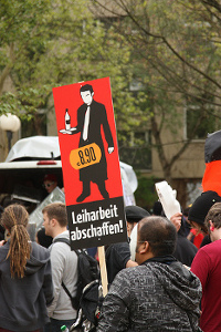 Im Visier der Demonstranten: Prekäre Arbeitsverhältnisse Foto: flickr.com/Niklas Bildhauer