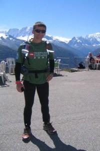 Jens Vieler beim Ultra-Trail du Mont-Blanc, das größte und längste Ultra-Bergrennen Europas. Foto: Privat