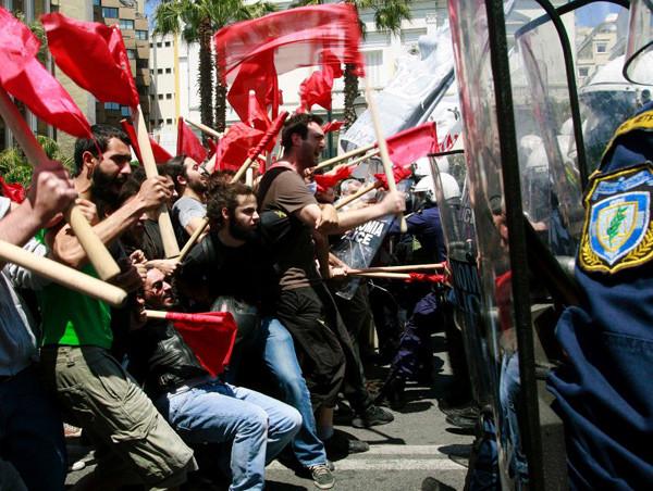 Gewaltsame Ausschreitungen in Athen