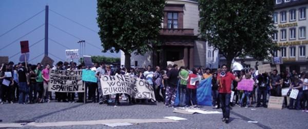 Spanien glauben, dass die Situation in ihrer Heimat sich verändern kann. Foto: Mario Abele