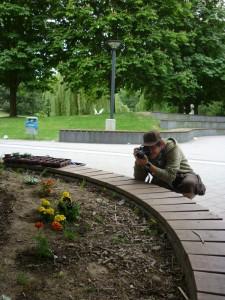 Mission vollendet: Patrick schießt nach getaner Arbeit Fotos für seinen Blog. Foto: Jana Hofmann