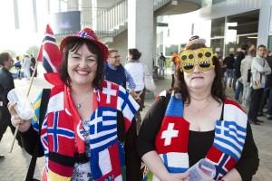 Beim Grand-Prix-Outfit kommt es vor allem darauf an Flagge zu zeigen. Foto: Pieter Van den Berghe
