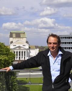 Rolf Viehrig auf Dach