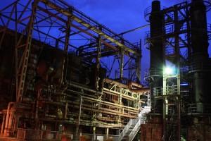 Die Zeche Hansa: Industriekultur bei Nacht. Foto: Isabell Conrad
