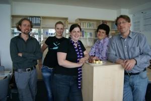 Das Team der Forschungswerkstatt FLEx ist montags von 9-14 Uhr sowie Dienstag und Mittwoch von 11-16 Uhr für die Studenten da. Foto: Anastasia Bobryakova