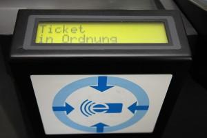 Elektronische Ticketkontrolle in Dortmunder Bussen