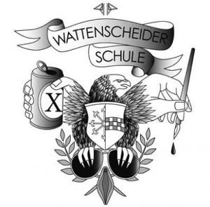 Das Logo der Wattenscheider Schule verbildlicht u. a. die Heimat von Joswig und Schlange: Bochum-Wattenscheid! Foto: Wattenscheider Schule
